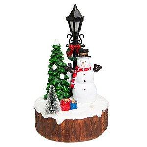 Vila Natalina - Bone de neve Snowman com iluminacao