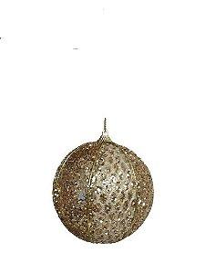 Bola Decorada dourada com 3