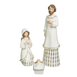Sagrada Familia Branca - 03 peças