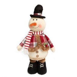 Boneco de Neve Candy vermelho com cartola e cachecol