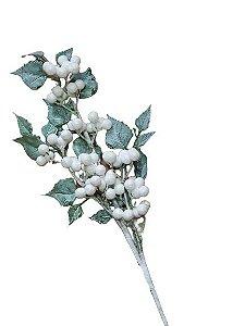 Galho Native Luxe Verde e Branco 65cm