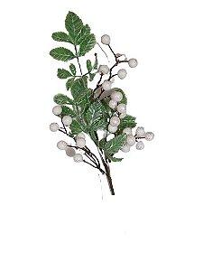 Galho Pick Native Luxe Verde e Branco 40cm