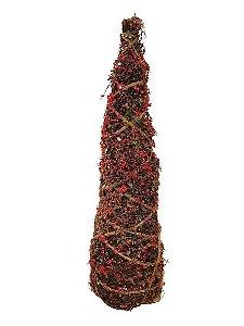 Arvore Berry Decorativa Verde e Vermelha 50cm