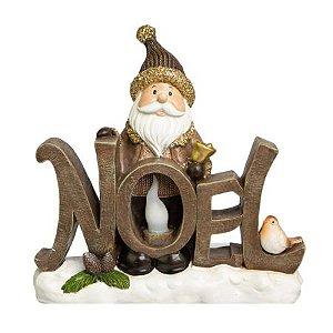 Papai Noel Decorativo marrom