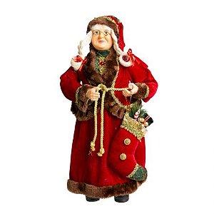Mamae Noel em Pe Magic Vermelha