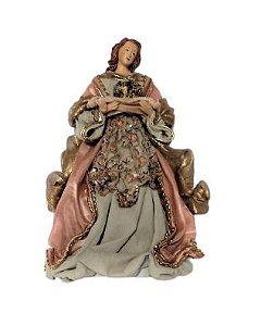 Anjo Coroa Ponta de Arvore Rose