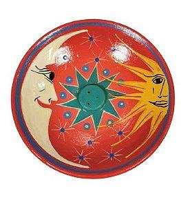 Incensario de Ceramica Sol e Lua Color G
