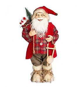 Papai Noel em Pe Lenhador Xd/Vm 45cm