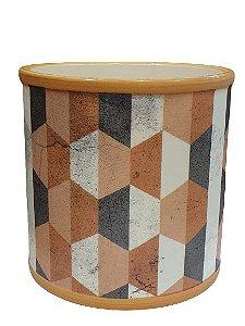 Cachepot Decorativo Geometrico em Ceramica G