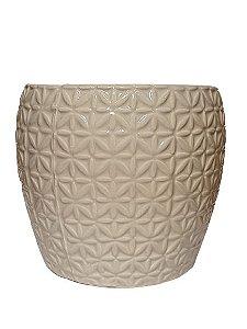Vaso Decorativo Off White em Ceramica G