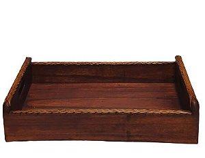 Bandeja de madeira estilo Bambu G