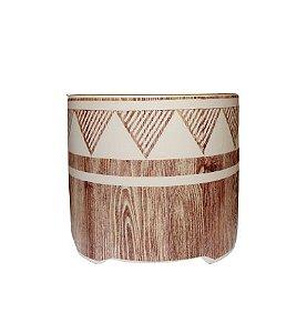 Cachepot Ceramica estampa etnica P