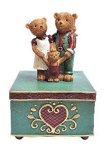 Caixa de musica familia urso