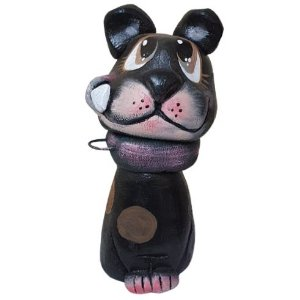 Cachorro Preto Cimento Bento