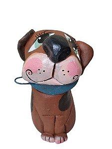 Cachorro Marrom com bolas Cimento Bento