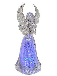 Anjo Decorativo Multicor com corneta