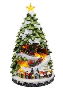 Vila Natalina - Arvore de Natal com trenzinho e vila