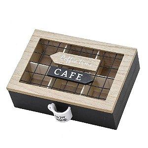 PORTA CAPSULA DE CAFE EM MADEIRA