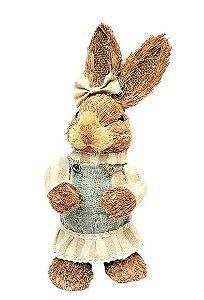 Coelha Decorativa em Palha Garden