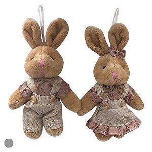 Par de coelhos rose  p/ pendurar