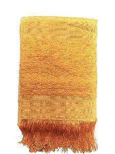 Manta Decorativa para sofa de Seda Amarela