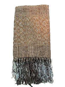 Manta Decorativa para sofa de Seda Marrom