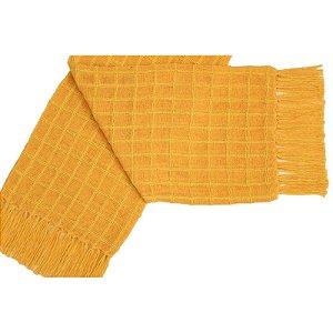 Manta Decorativa para sofa de Algodao Amarela