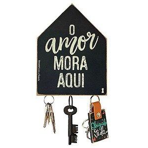 Porta Chave Magnetico O amor mora aqui