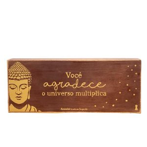 Quadro Box Buda Agradecer 12x30