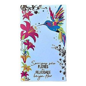 Quadro Box Beija Flor Branco 30x50