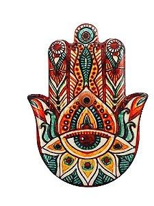 Incensario e ima de ceramica Mao de Hamsa Color