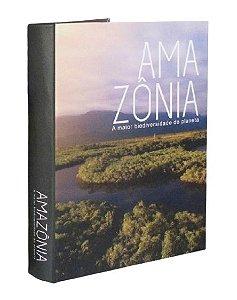 CAIXA LIVRO DECORATIVO AMAZONIA G