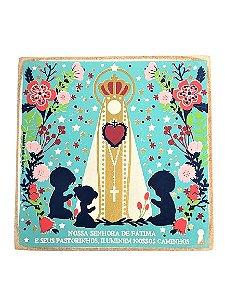 Kit Caixinha com Pingente Nossa Senhora de Fatima
