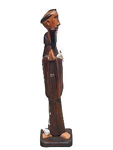 Escultura Sao Francisco esculpido em Madeira