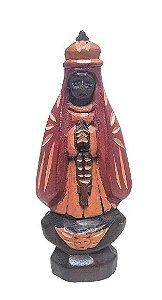 Escultura Nsa Sra Aparecida esculpida em Madeira