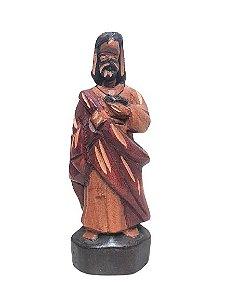 Escultura Sagrado coracao de Jesus esculpida em Madeira