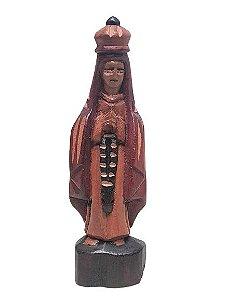 Escultura Nsa Sra das Gracas esculpida em Madeira