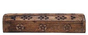 Incensario Box Indiano Rustico em madeira
