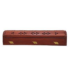 Incensario Box Indiano Machetaria em madeira