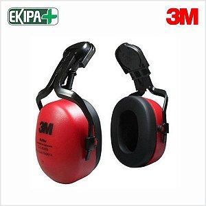 Protetor Auditivo Abafador de Ruídos Tipo Concha Acoplável 3M Muffler 17dB CA 33835
