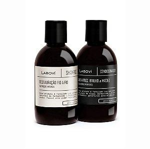 Shampoo Restauração Fio-a-Fio + Condicionador Anti-Frizz, Brilho e Maciez