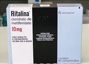 Ritalina 10mg com 60 comprimidos