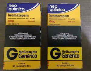 Bromazepam 6mg com 30 comprimidos