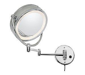 Espelho Duplo de Parede  5X de aumento em um dos lados - Banho Mais