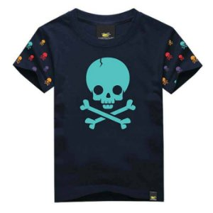 CAMISETA INFANTIL SKULL COLORS ART ROCK