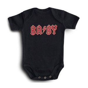 BODY BEBÊ ROCK AC/DC BABY HONEY PEPPERS