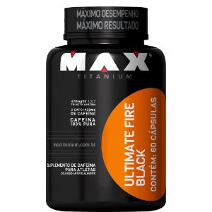 ULTIMATE FIRE BLACK - 60 CAPSULAS - MAX TITANIUM