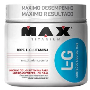 L-GLUTAMINE - 150G - MAX TITANIUM