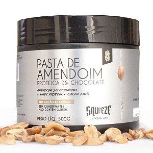 PASTA DE AMENDOIM - PROTEICA DE CHOCOLATE - 500G - SQUEEZE