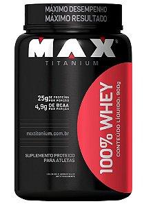 100% WHEY - 900G - MAX TITANIUM